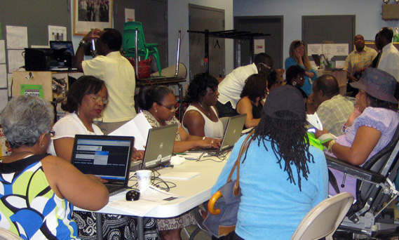 Staff from DOF and DEP help homeowners resolve billing and lien issues.