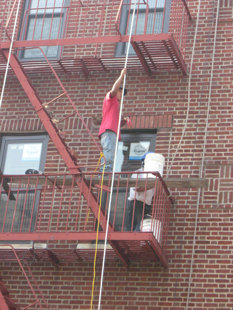 Weatherization work is performed on the 308 E 183 Street.
