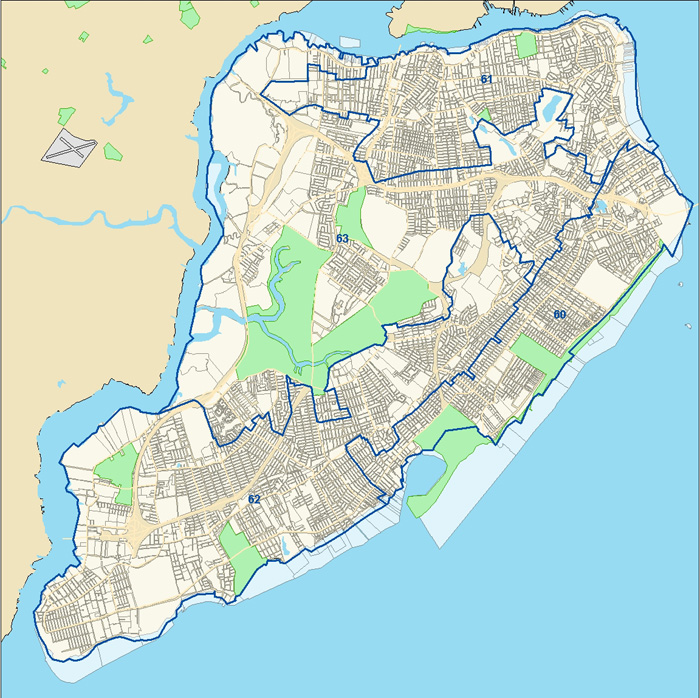 Staten Island New York State Assembly District Map