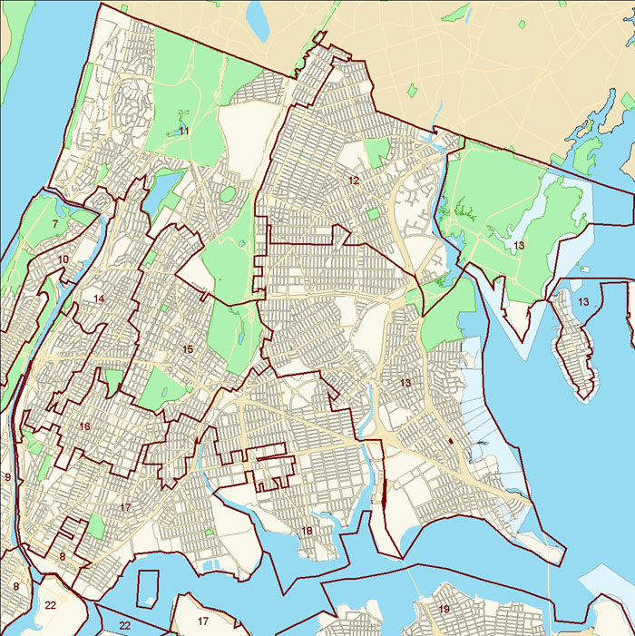 Bronx City Council District Map