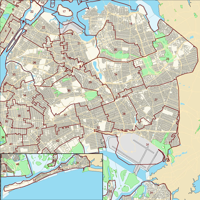 Queens City Council District Map