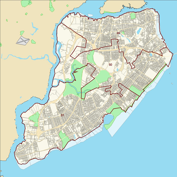 Staten Island City Council District Map