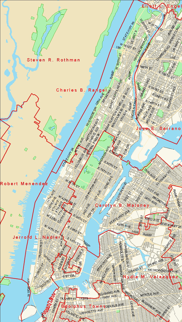 Manhattan U S Congressional District Map