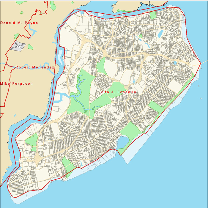 Staten Island U S Congressional District Map