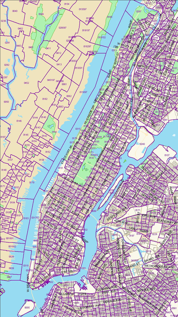 Manhattan Census Tract Map