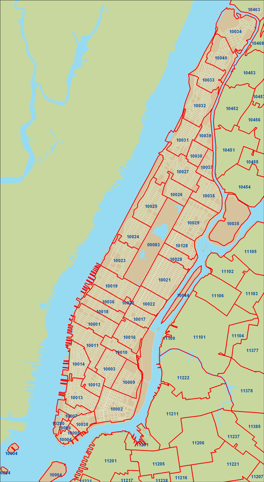 Zip Codes Nyc Map | Zip Code MAP