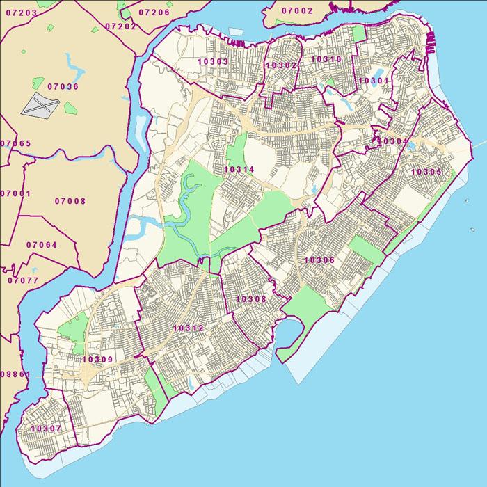 Map Of Staten Island Zip Codes | Zip Code MAP
