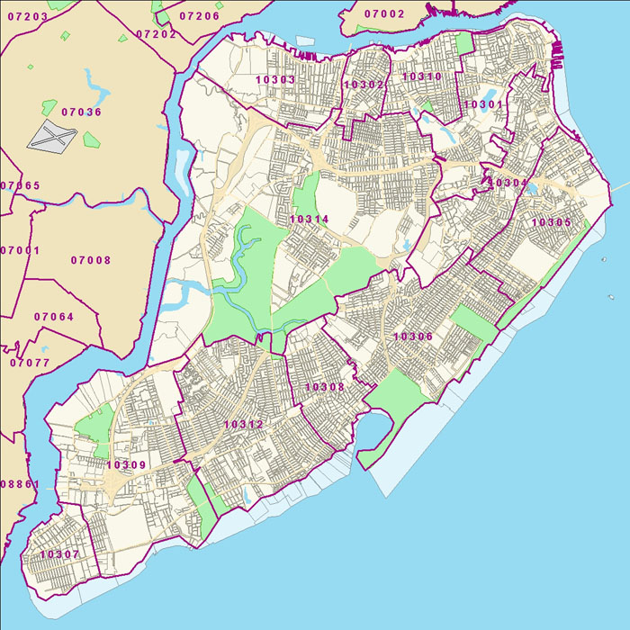 Crg Staten Island Zip Code Map