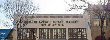 The Bronx Beer Hall is located inside the Arthur Avenue Retail Market.