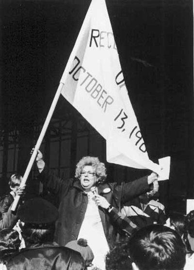 Chicago-based community activist and National People's Action founder Gale Cincotta. Photo courtesy of the People's Action Institute.