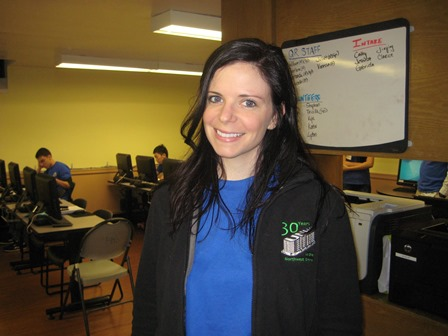 Tax volunteer, Elizabeth, who helped Rosa with her tax return.