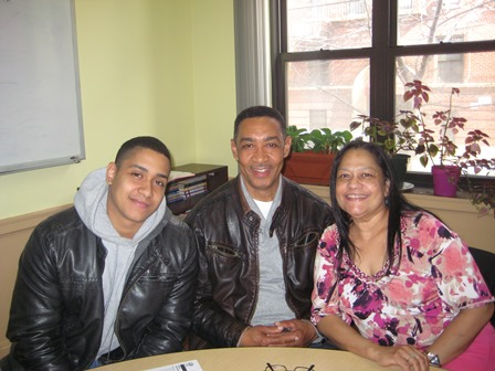 Julio A. and his parents, Juan and Esbelin.