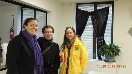 Kristen and Thomas with UNHP Financial Director, Johanna