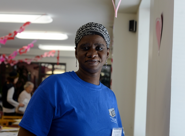Maimouna, one of our 80 student volunteers, who have trained for the UNHP Tax Preparation program in 2015. Maimouna is a graduate student at Lehman College and is our first Lehman tax volunteer. Fordham University and Manhattan College students volunteer in large numbers for our tax program. Photographer, Dana Ullman.