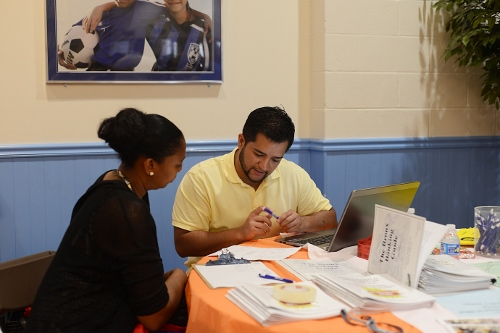 Financial Coach Brian Bier provided on-site financial consultations and opportunities for follow-up appointments at the Northwest Bronx Resource Center.