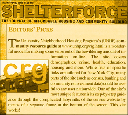 Way back in 2001 when CRG won Site of the Month