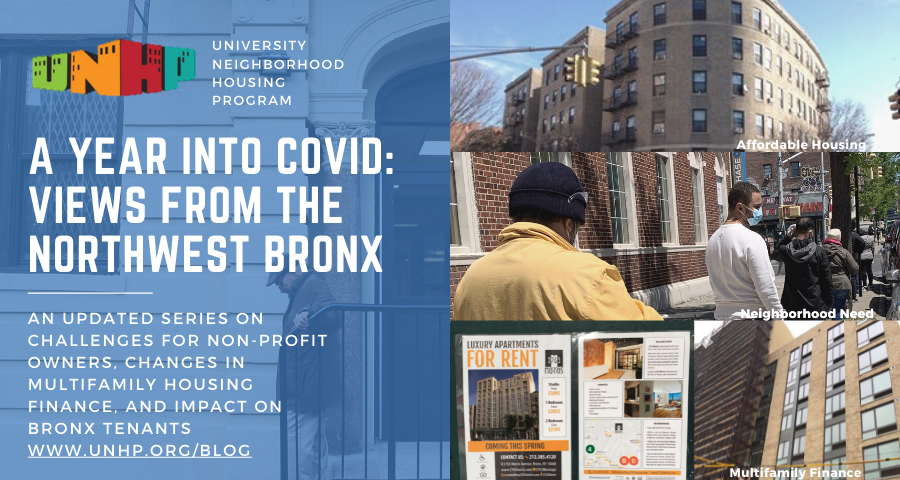 A Year Into Covid: Views from the Northwest Bronx - a 3 Part Series