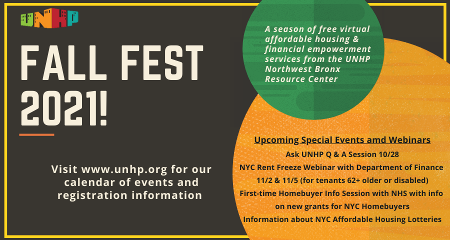 Fall Fest Events/Festival de Otoño