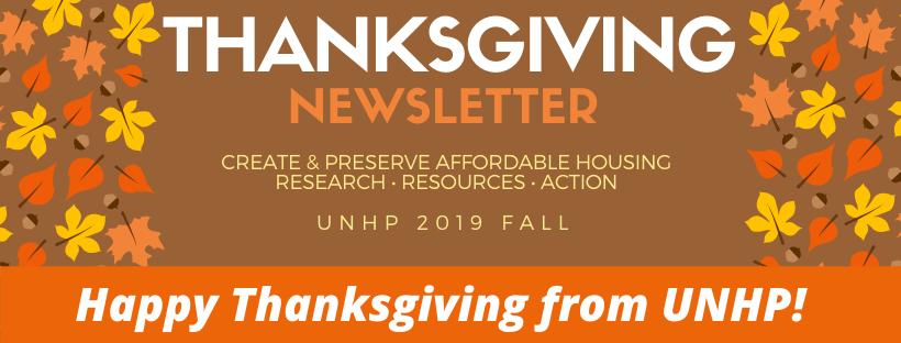 2019 Thanksgiving Newsletter