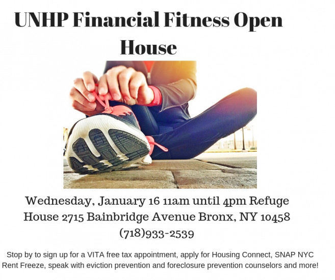 1/16/19 Financial Fitness Open House & Tax Prep