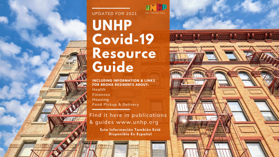 Bronx Health, Housing, Finances, & Food Covid-19 UPDATED Guide