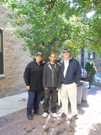 John, the Super, and Managers Neldo and Kevin at 911 East 165th Street building.
