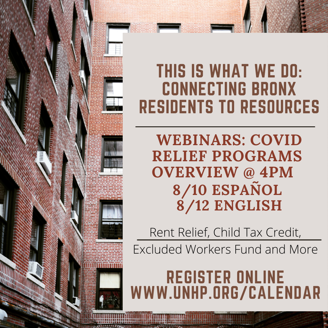 These Webinars are part of UNHP's This is What We Do series of events.