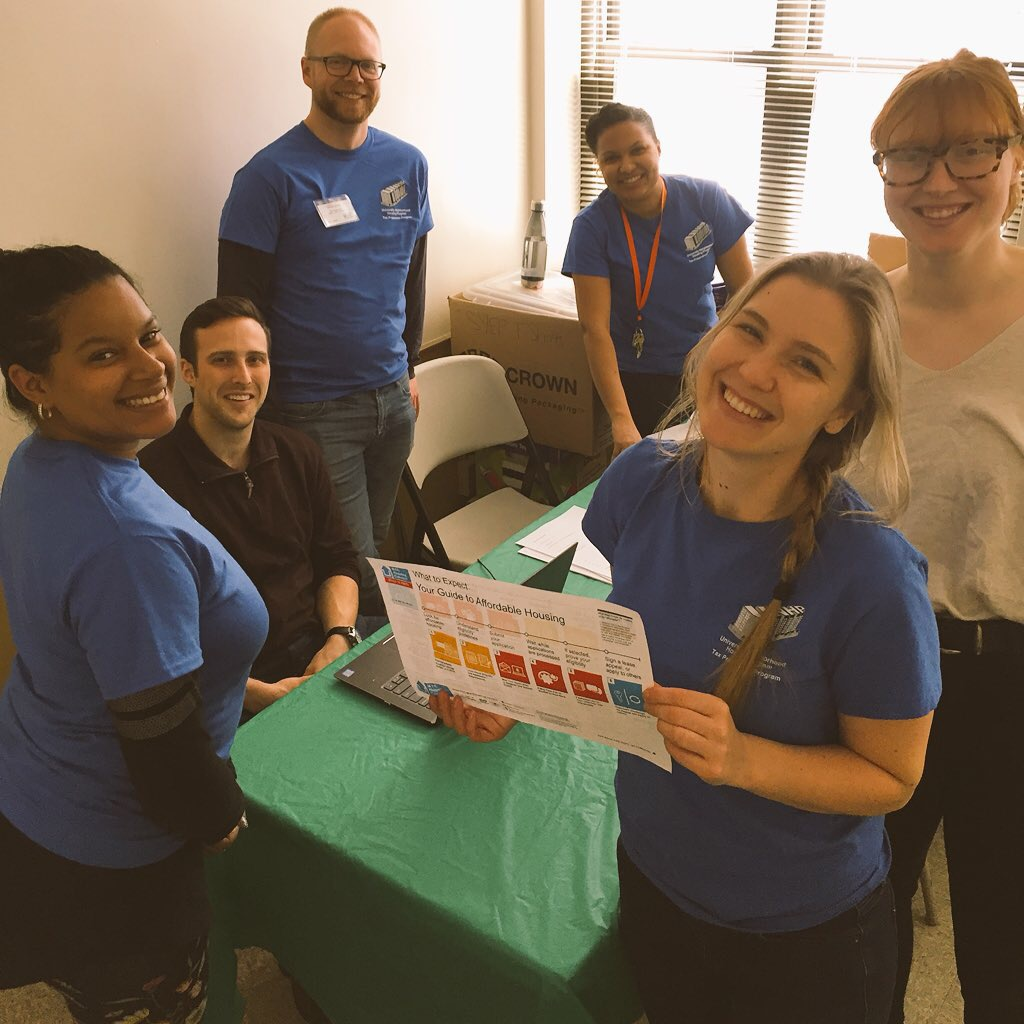 IPED fellow, Jessica Way and Donovan Hotz, worked with other UNHP staff and volunteers to offer the NYC online affordablehousing lottery enrollment to Bronx residents.
