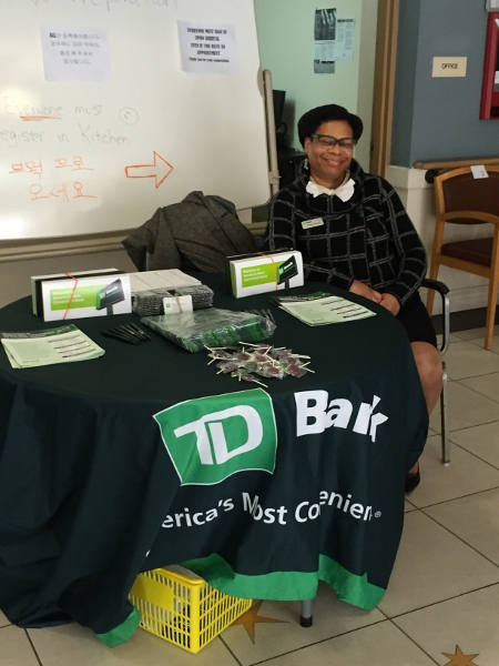 TD Bank was on hand for our senior mobile tax days to offer free and low cost banking products to residents. UNHP also offered free credit reports and appointments with the UNHP Financial Clinic coach or Seedco Community healthcare advocate.