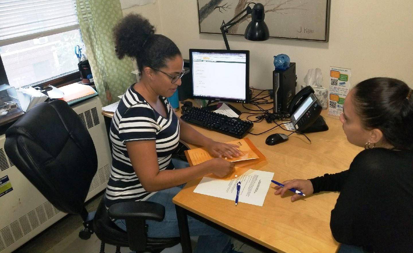 1-on-1 Financial Coaching is just one of the services offered at the Northwest Bronx Resource Center.