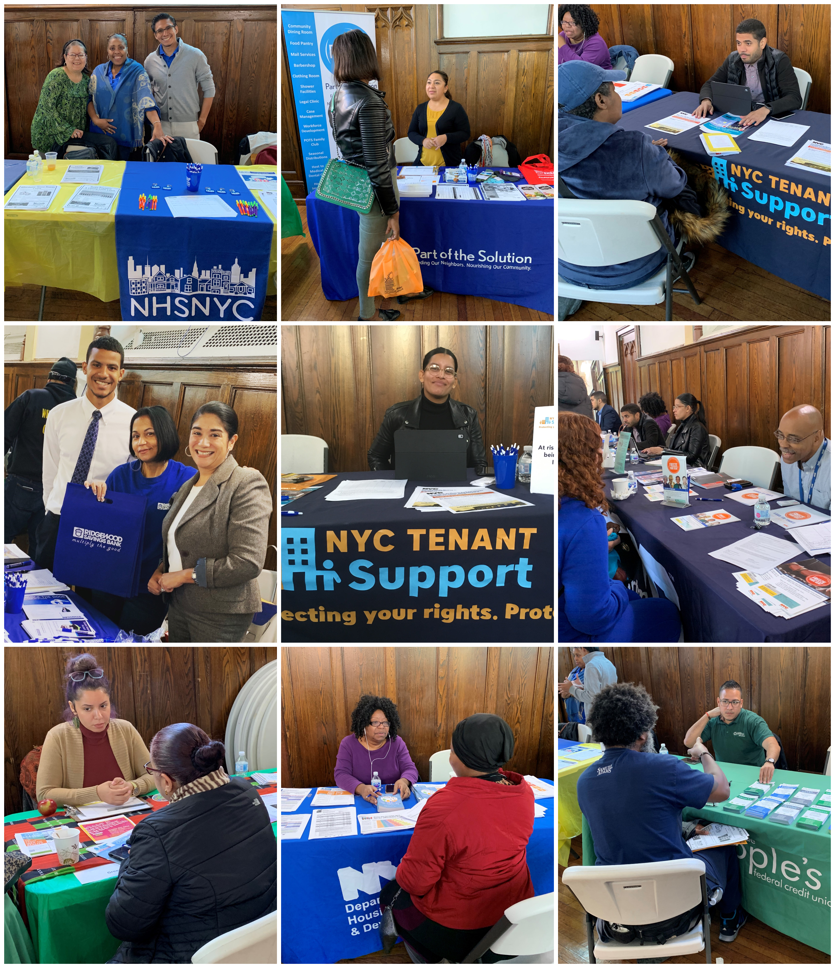 Public agencies and community partners ofered on-the spot assitance and provided valuable follow-up infromation about housing and fiancail resoruces for the 151 Bronx attendees.