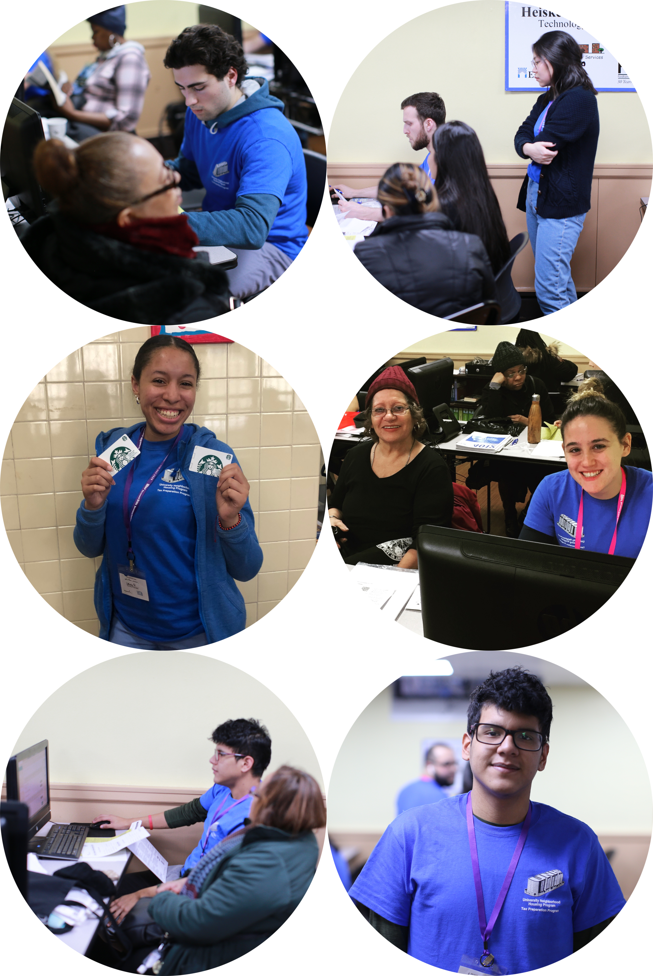 Pictured above are our student volunteer superstars! Thanks, Matthew, Jinyu, Leidy, Sarah, and Christian for logging in extra hours, taking QR training and going the extra mile for your Bronx neighbors!