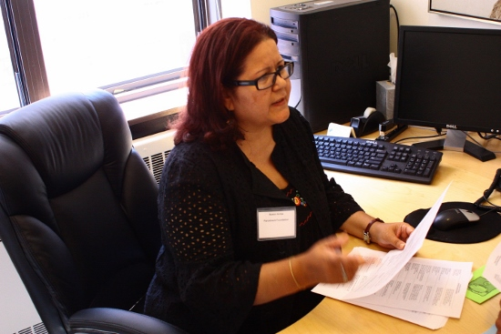 HUD Certified Counselor Noemi Aviles at the Northwest Bronx Resource Center.