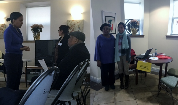Ten senior homeowners attended the Resource Fair on March 15 at Serviam Gardens and received services from The Parodneck Foundation, The Financial Clinic, UNHP, Sustainable South Bronx and the NWBCCC Weatherization Project. Six seniors printed their credit reports, two scheduled appointments for finanicial coaching at the NWBXRC, 2 homeowners applied for property tax exemptions (STAR) and 3 homeowners have been approved for a free home energy assessment. One senior applied for a Senior Citizen Housing Assistance program (SCHAP) low-cost loan from The Parodneck Foundation. Attendees also made follow up appointments for legal and foreclosure prevention assistance through the Parodneck Foundation.