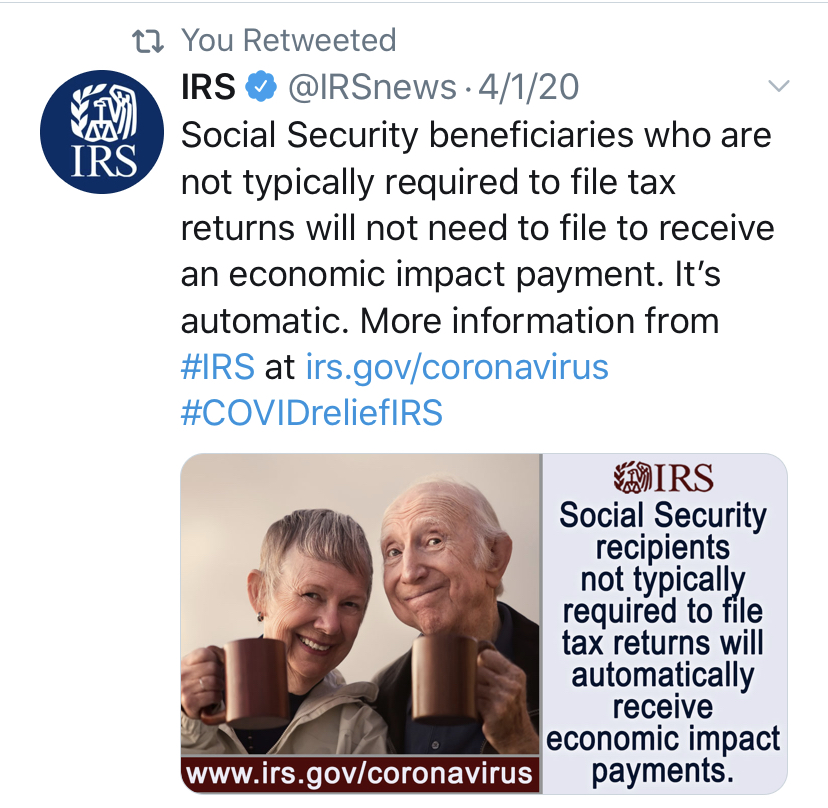 For most people, you do not have to do anything to get the economic stimulus. If you filed taxes in 2018 or 2019, receive social securty, veterans benefits,or disability benefits you will recive the stimulus in the same method that you recived your refund of benefit.