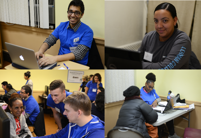Assorted photos from our 2015 Tax Preparation Program.